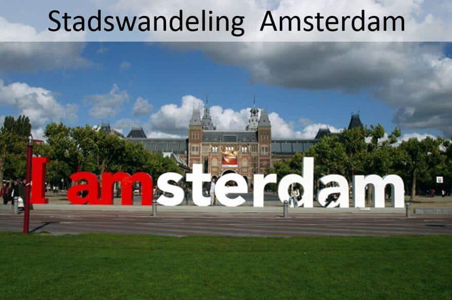 Stadswandeling;  Amsterdam