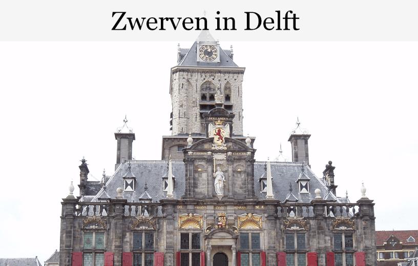 Stadswandeling;  Delft