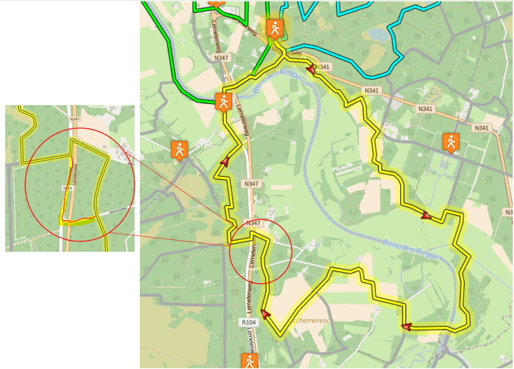 Steile Over route wijziging
