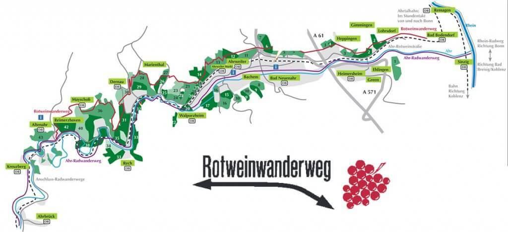 Ahrdal Rodewijn wandelroute